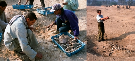 Statues rediscovered: The work at Amarna has yielded hundreds of thousands of artefacts, not all of which have come from new fieldwork! In the early 2000s, a dump of statue fragments left on site during the early Egypt Exploration Society excavations was found, which launched Kristin Thompson's long-term study of Akhenaten's statuary program: www.amarnaproject.com/pages/recent_projects/material_cult...