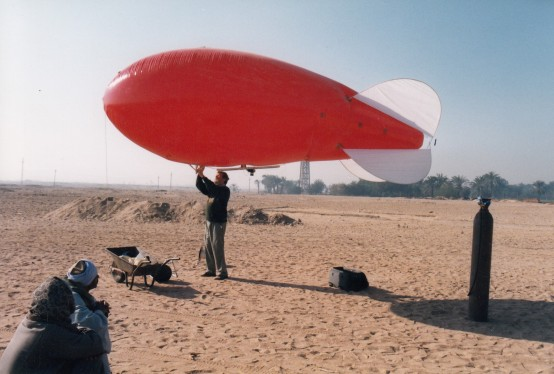 Surveying by air: Sometimes it is helpful to look at Amarna from another perspective. In the 1980s, Gwil Owen began a long-term program to record the ancient city through aerial photography, with a succession of kites, hot-air- and helium-filled balloons. Thanks to his work, we now have a near-complete record of Amarna from the air.